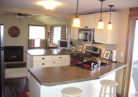 Example or remodeled kitchen
