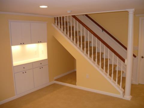 Completed basement remodel