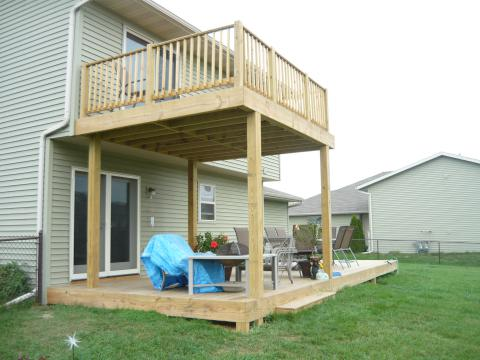 Deck after remodel