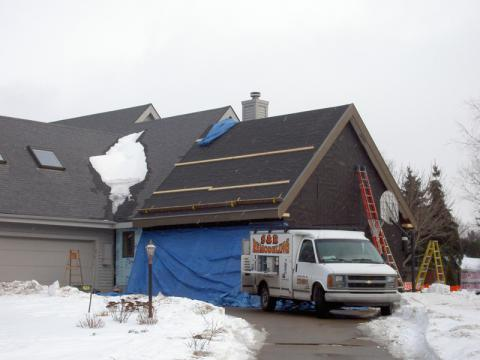 Ireland Roofing Project During Construction